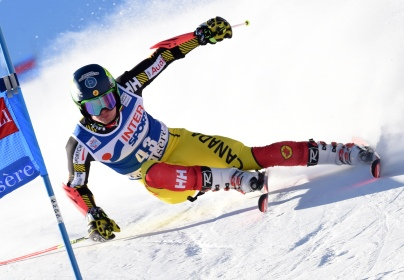 Trevor Philp in an alpine ski, men's World Cup giant slalom, in Val D'Isere, France, Saturday,Dec. 12, 2015. (Pentaphoto/Pier Marco Tacca)