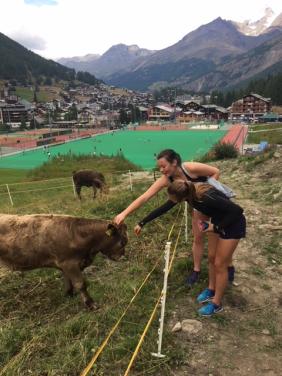 Making new friends in Switzerland