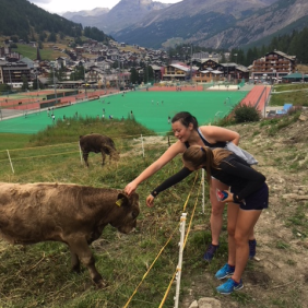 Making new friends in Switzerland